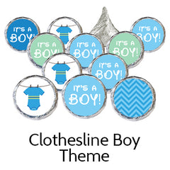clothesline boy baby shower favors