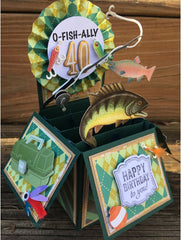 Fishing 40th Birthday Party Card Ideas For Him