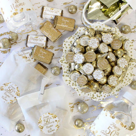 custom 50th golden wedding anniversary party ideas and supplies
