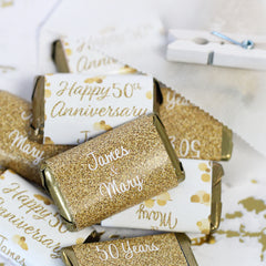 50th golden wedding anniversary party favor ideas
