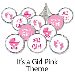 pink its a girl baby shower favors