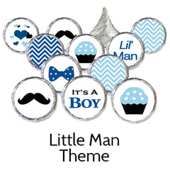 little man baby shower favors