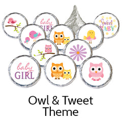 owl girl baby shower favors