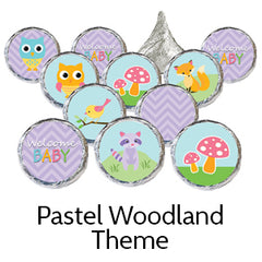 pastel woodland baby shower favors