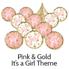 pink gold its a girl baby shower favors