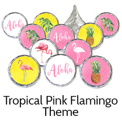 Pink Flamingo Tropical Birthday Party Favors