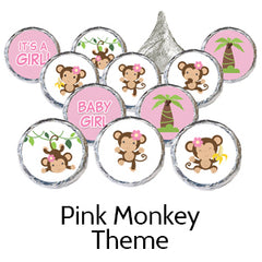 pink monkey baby shower favors