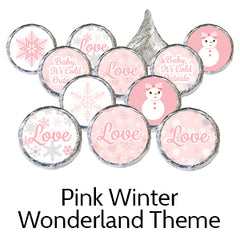 pink winter wonderland baby shower favors