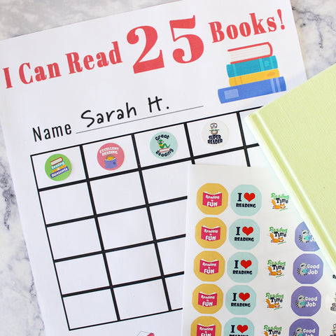 reading sticker chart for the classroom