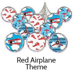 red airplane baby shower favors