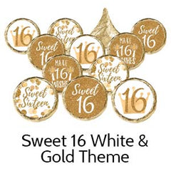 Sweet 16th Birthday Party Favors Gold