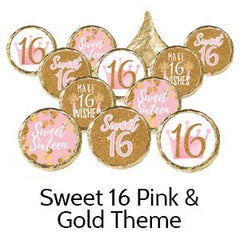 Sweet 16th Birthday Party Favors Pink Gold
