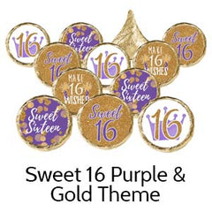 Sweet 16th Birthday Party Favors Purple