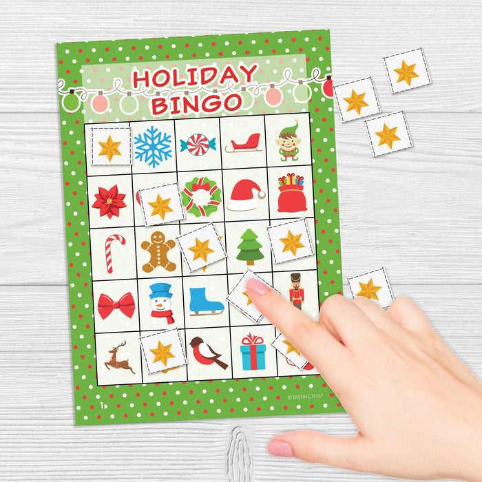 Holiday Christmas Bingo for Kids - 24 Players-Distinctivs