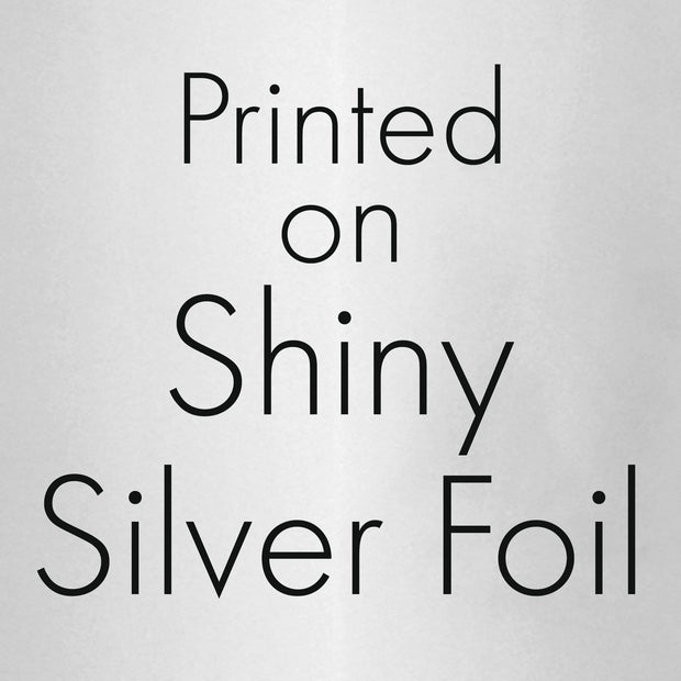 Black and Silver 70th Birthday Metallic Foil Mini Candy Bar Stickers - 45 Count