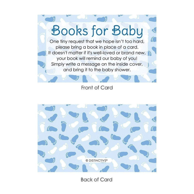 Boy Baby Shower Books for Baby Request Cards - 20 Count