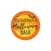 Personalized Halloween Large Round Labels - 40 Stickers