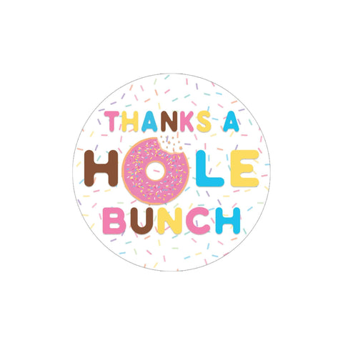 Donut Birthday Thank You Stickers - 40 Labels