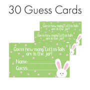 Extra Guess Cards ONLY (No Sign) Easter How Many Cotton Tails Game