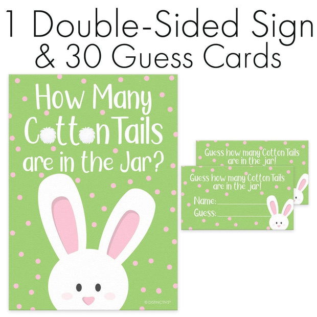 Sign with Cards Easter How Many Cotton Tails Game