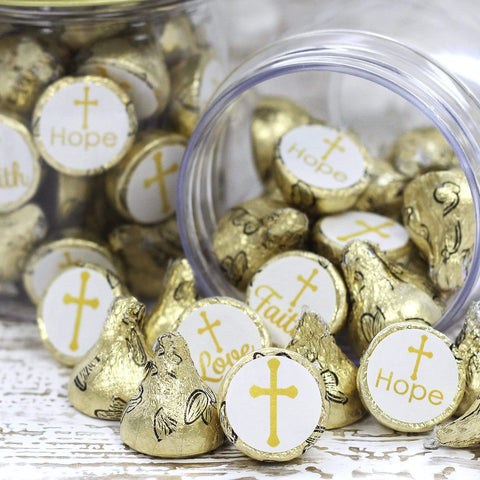 Baptism or Christening Party Favor Stickers - 180 Count