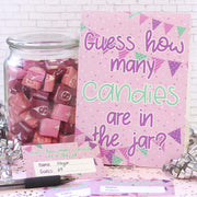How Many Candies in the Jar - Girl Birthday Party Game