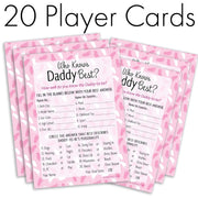 It's a Girl - Who Knows Daddy Best - Baby Shower Game Cards (20 Count)
