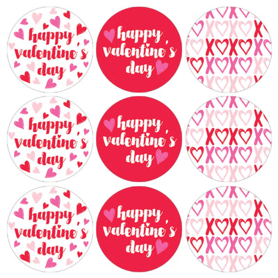 Kids Valentine's Day Candy Favor Stickers - 180 Labels