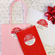 Kids Valentine's Day Gift Tags - 40 Stickers