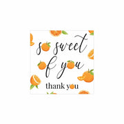 Little Cutie Thank You Square Stickers - So Sweet Of You - 48 Labels