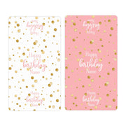 Personalized Pink and Gold Birthday Mini Candy Bar Labels - 45 Stickers