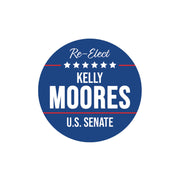 Personalized Political Campaign Vote For Stickers - Customize 1000 Round Circles - Blue