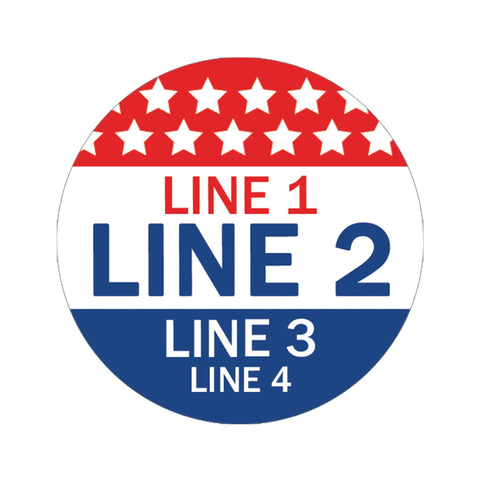 Personalized Political Campaign Vote For Stickers - Customize 1000 Round Circles - Red, White, & Blue #2