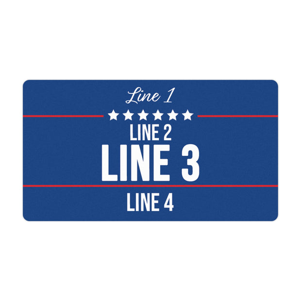 Personalized Political Campaign Vote For Stickers - Customize 750 Rectangular Stickers - Blue
