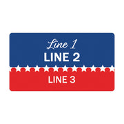 Personalized Political Campaign Vote For Stickers - Customize 750 Rectangular Stickers - Red & Blue