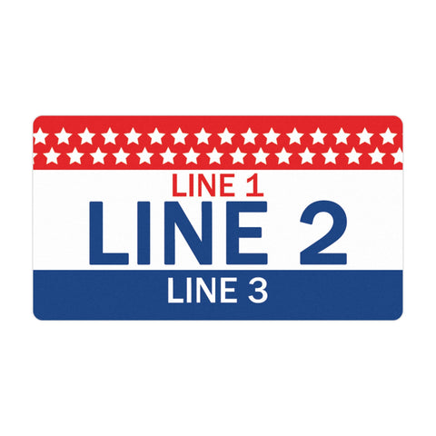 Personalized Political Campaign Vote For Stickers - Customize 750 Rectangular Stickers - Red, White, & Blue #1