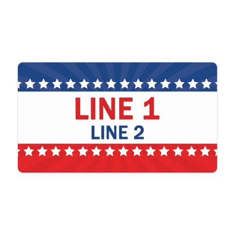 Personalized Political Campaign Vote For Stickers - Customize 750 Rectangular Stickers - Red, White, & Blue #2
