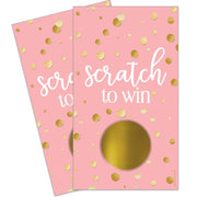 Pink and Gold Baby Shower Scratch Off Game Cards - 28 Scratchers