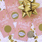 Pink and Gold Scratch Off Game Cards - 28 Scratchers
