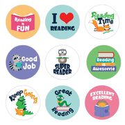 Reading Theme Motivational Reward Stickers for Students (1,080 Stickers)