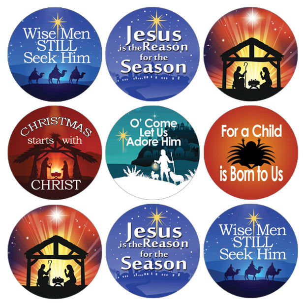 Religious Christian Faith Christmas Stickers - 180 Count