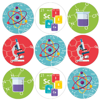 Science Theme Motivational Reward Stickers for Students - 1,080 Stickers