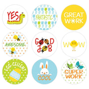 Spring Theme Motivational Reward Stickers for Students (1,080 Stickers)