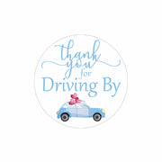 Light Blue Thank you for Driving By Stickers - 40 Labels