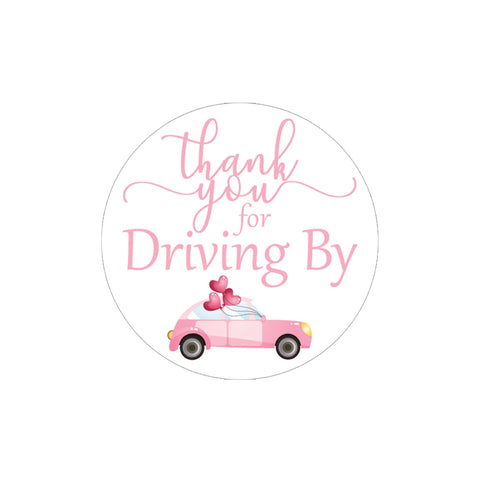 Light Pink Thank you for Driving By Stickers - 40 Labels