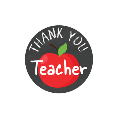 Thank You Teacher Round Stickers - Teacher Appreciation - 40 Labels