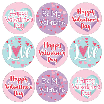 Valentine's Day Candy Favor Stickers - 180 Count