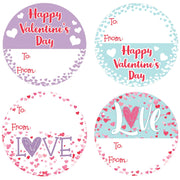 Valentine's Day Gift Tags, 40 Stickers