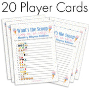 What's the Scoop? Gender Reveal Party Emoji Game Cards - 20 count