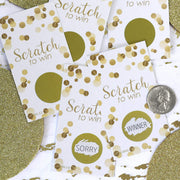White and Gold Scratch Off Party Game Cards - 28 Scratchers